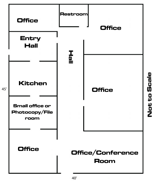 Macon office space for rent office space macon georgia for Small office floor plan